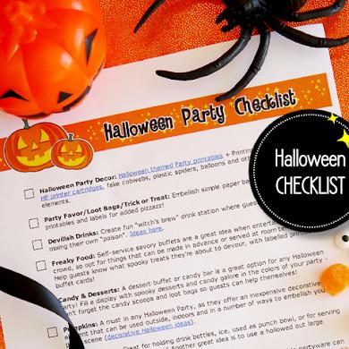 FREE Printable Halloween Party Checklist