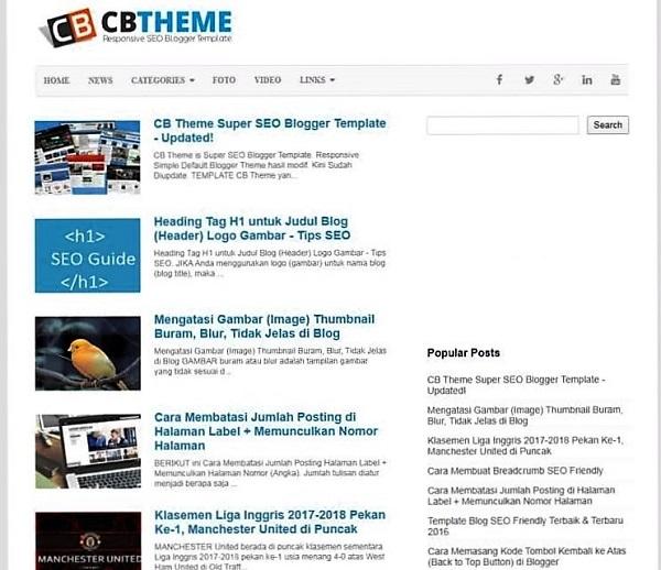 CB Theme Seo Friendly free Blogger Templates