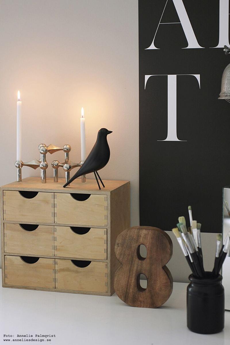 anneliesdesign, webbutik, webbutiker, fågel, fåglar, siffra, art, tavla, tavlor, poster, posters, print, svart och vitt, svartvit, svartvita, tavelvägg, ateljé, inredning, arbetsrum, arbetsrummet