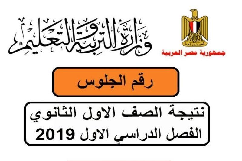نتيجة الصف الأول الثانوى العام 2019  وزارة التربية والتعليم