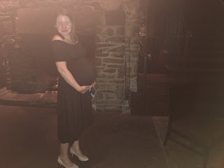pregnant at canlis rachel pally maternity dress