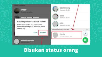 Cara Membisukan Status WhatsApp Orang Lain