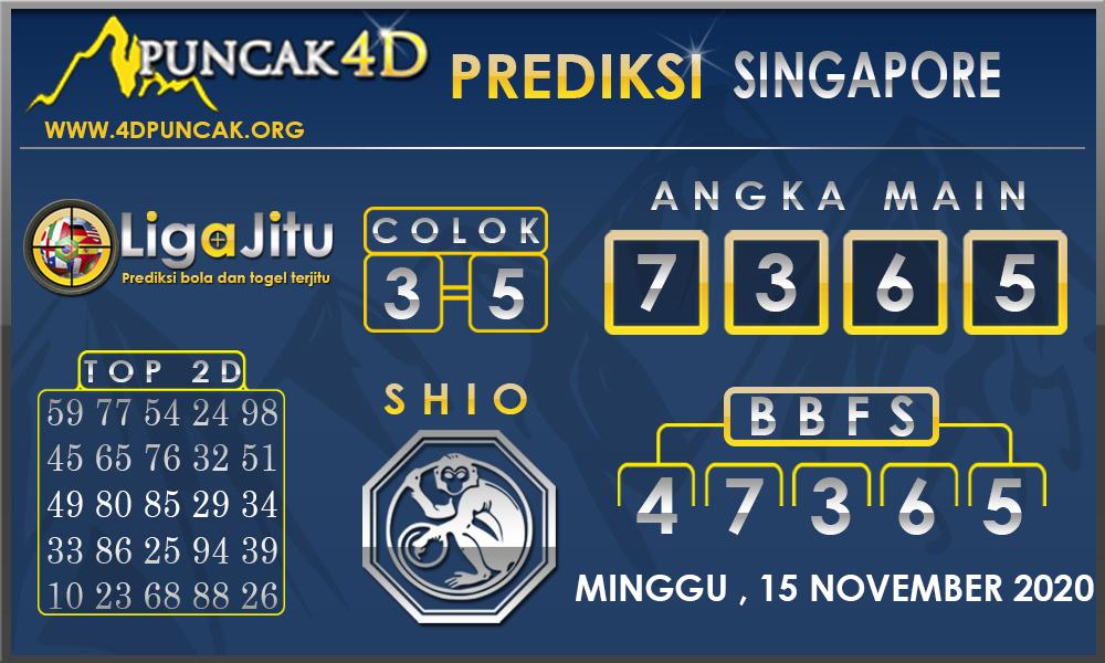 PREDIKSI TOGEL SINGAPORE PUNCAK4D 15 NOVEMBER 2020