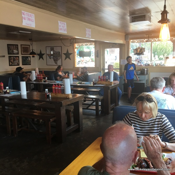 interior of Holy Smoke Texas Style BBQ in Bishop, California