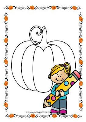 Dibujo de calabaza de halloween para imprimir y colorear