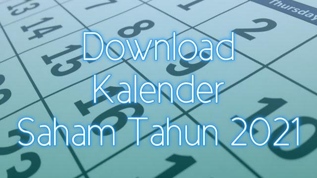 Kalender Libur Bursa Saham Indonesia Tahun 2021