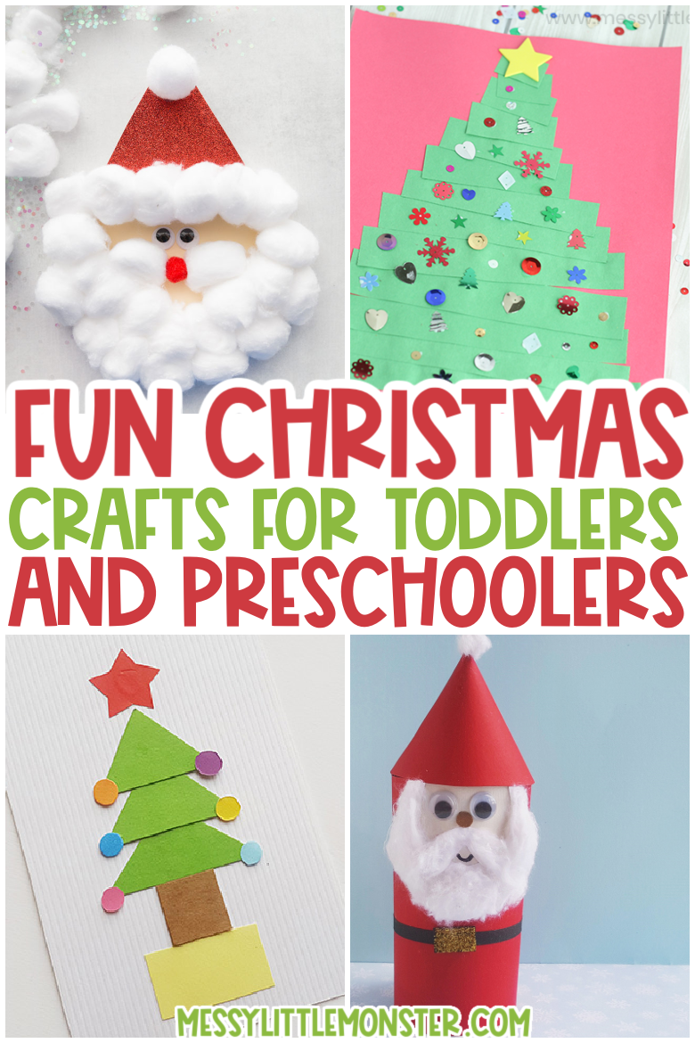 Fun Christmas crafts for toddlers and preschoolers