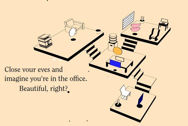 remote working ιστοσελίδα με ήχους γραφείου