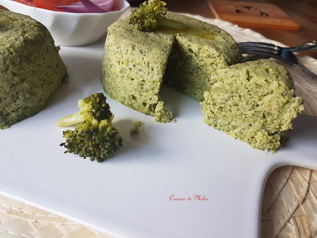 Budín  ligero de brócoli  en microondas 'Lunes sin carne'