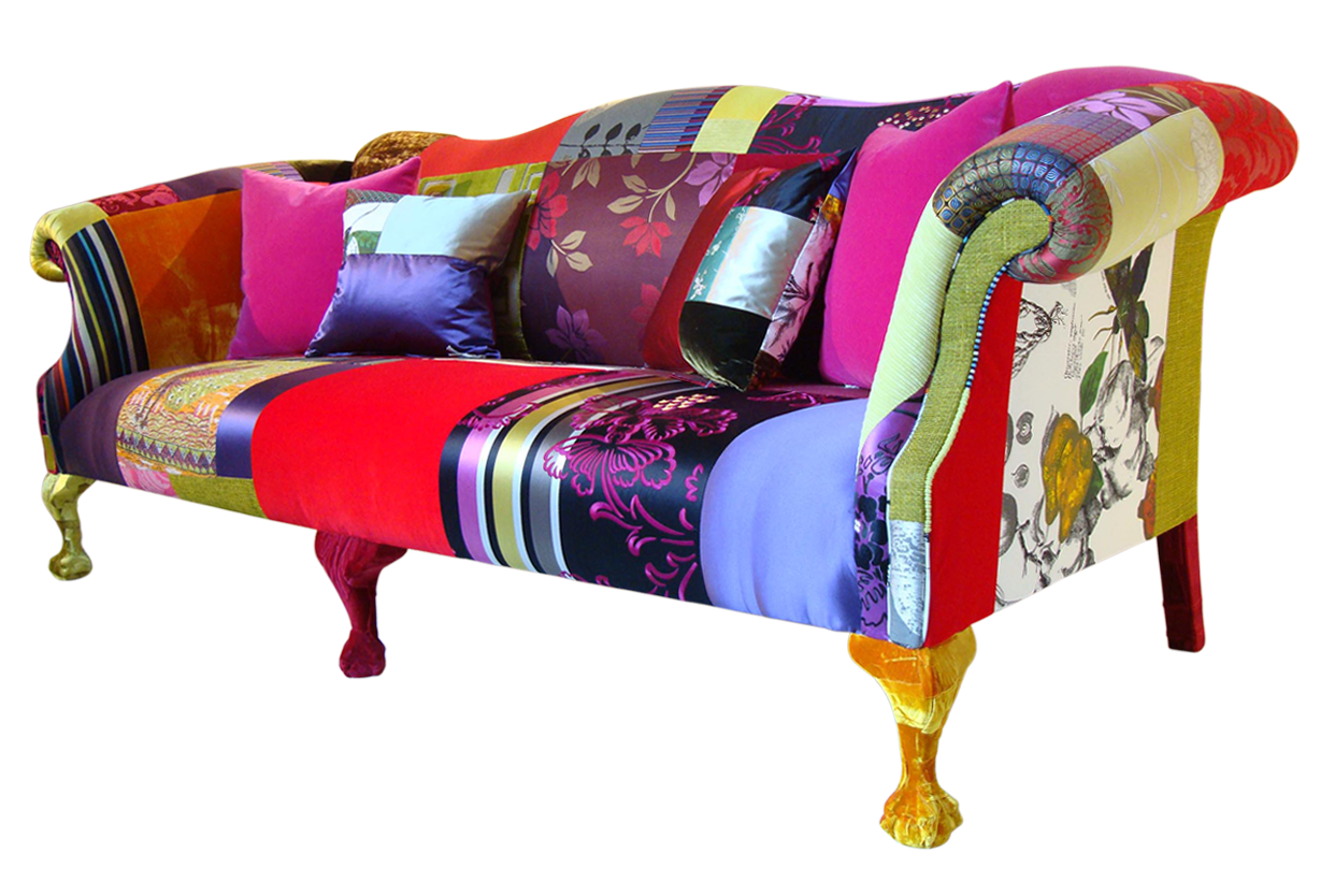 Printed Fabric Sofa Designs Height Of Coffee Table To Modern Colourful An