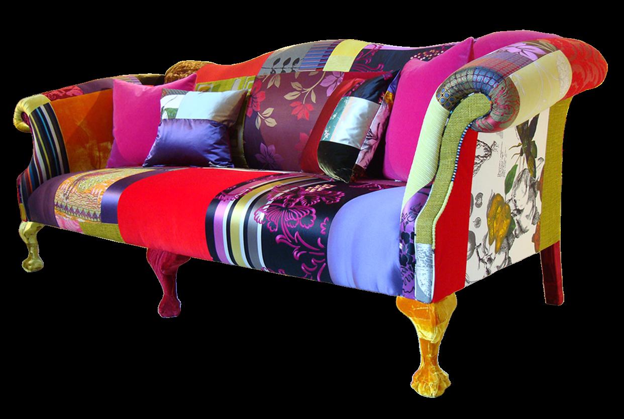 New Furniture Home: Modern sofa colourful printed fabric ...