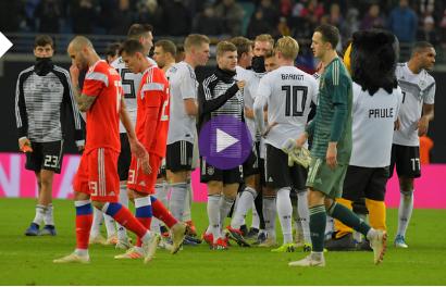 فيديو : ألمانيا تفوز على روسيا بثلاثية نظيفة