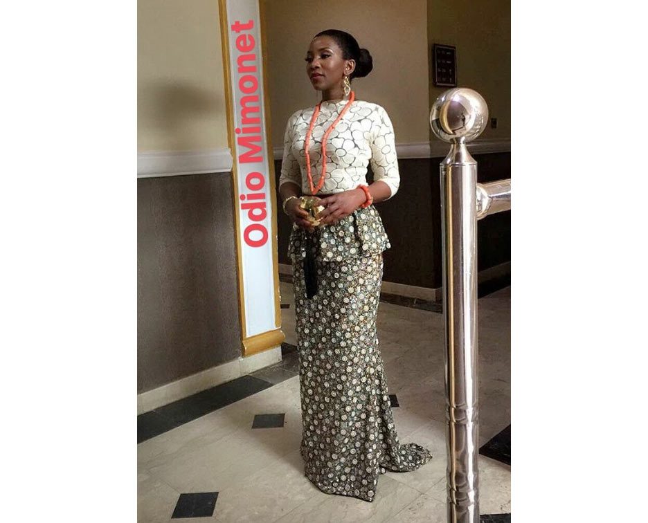 Genevieve Nnaji looks regal as she attends Oba of Benin coronation
