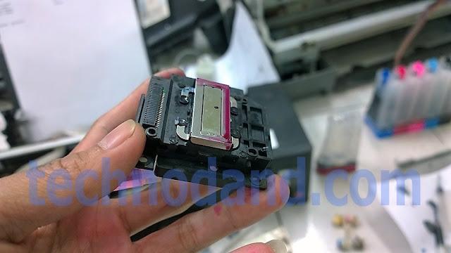 Printer Epson L110 L210 L300 L310 tinta tidak keluar