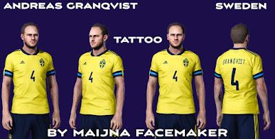 PES 2021 Tattoo Andreas Granqvist by Maijna