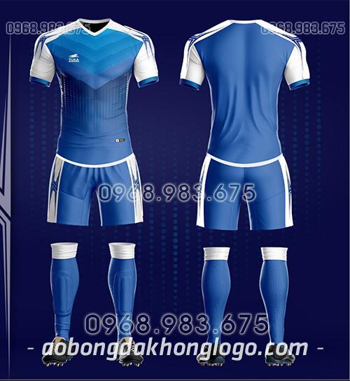 Áo bóng đá ko logo Zuka CV màu xanh dương