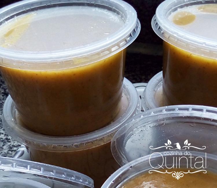 Potes de 500ml da Linha Simplific Galvanotek com a minha sopa de cebola!
