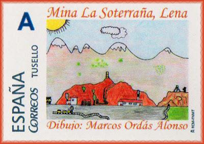 Lena, filatelia, sello personalizado, minería, mercurio