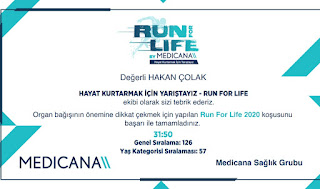 Run for life, Hakan Çolak, hakancolakcom,