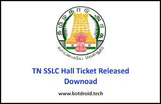 TN SSLC 10th hall ticket 2020 download