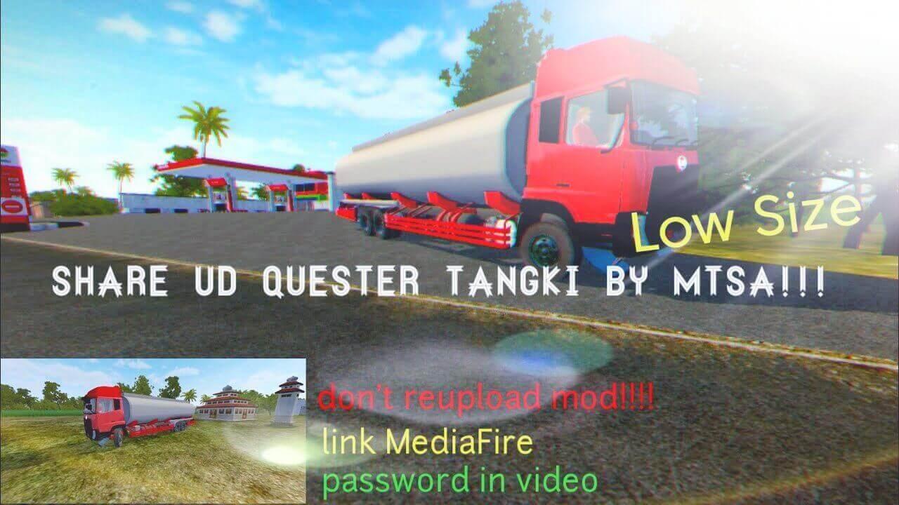 Mod Bussid UD Trucks Quester Tanker 2013