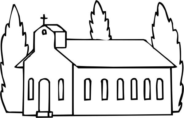 Dibujo Para Colorear De Un Templo