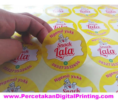 Contoh Desain STICKER KEMASAN Dari Percetakan Digital Printing Terdekat