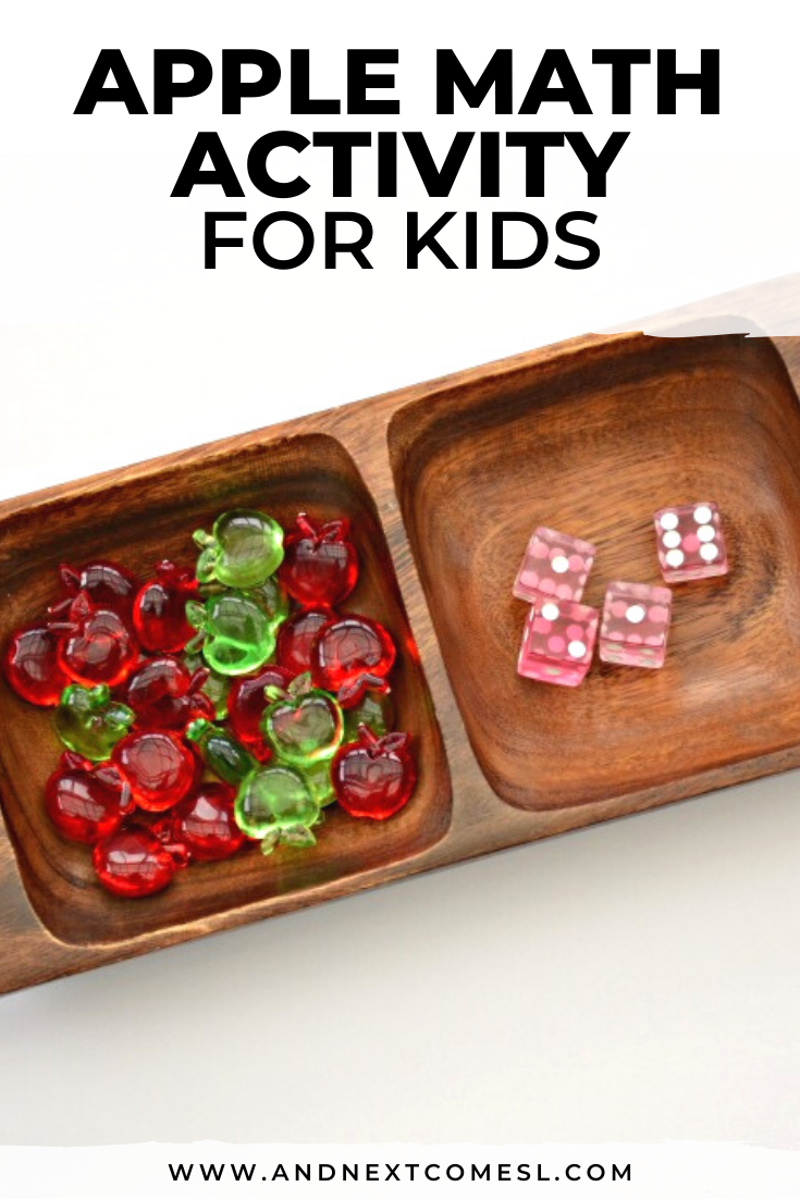Looking for apple math activities for kids in preschool or kindergarten? Try this simple apple math activity tray!