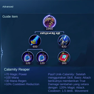 penjelasan lengkap item mobile legends item calamity reaper