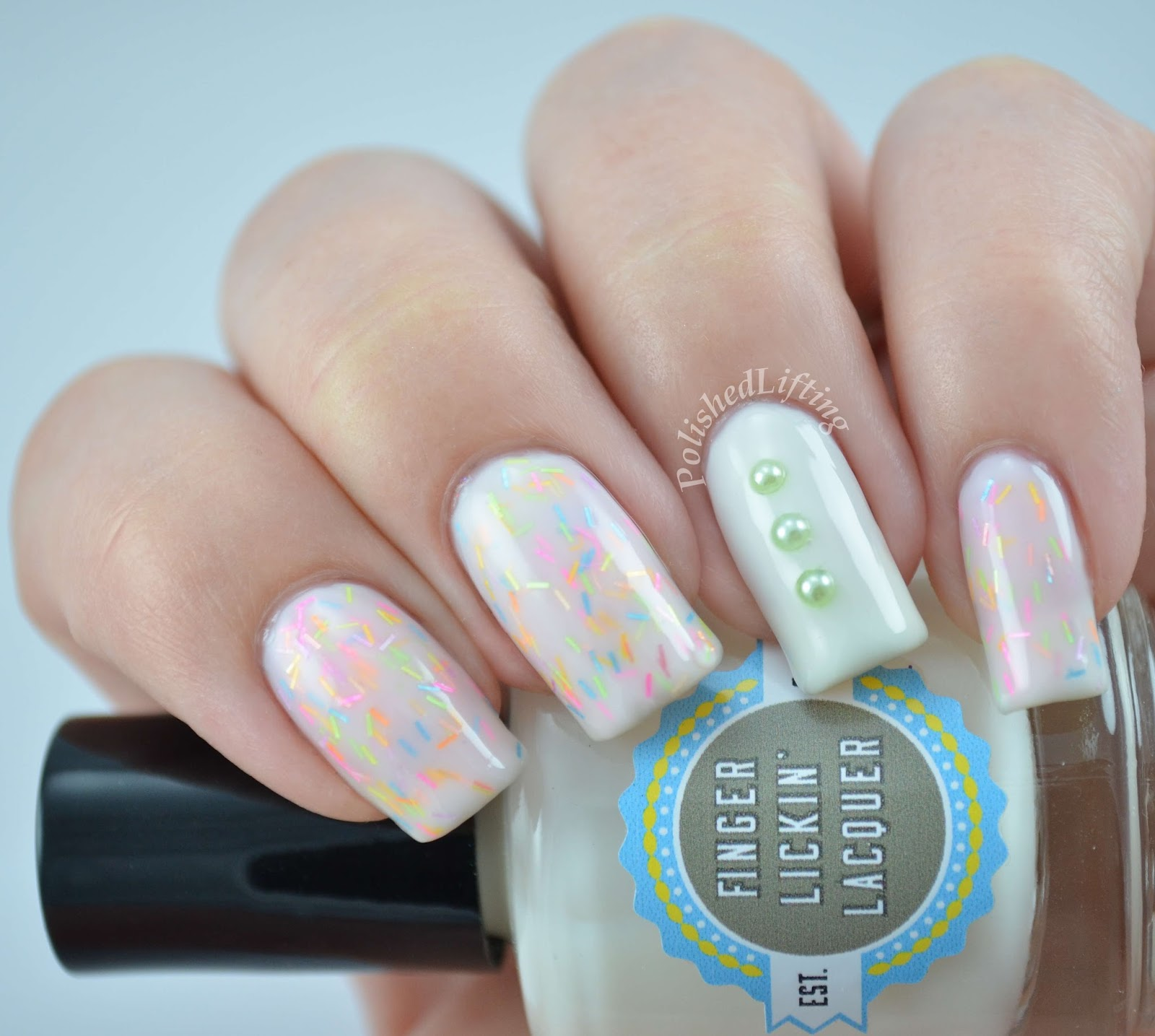 Polish Me Silly Giggles and Wiggles Finger Lickin' Lacquer Liquid Vanilla custom