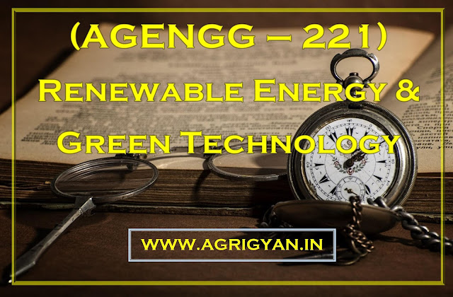 (AGENGG-221) Renewable Energy And Green Technology