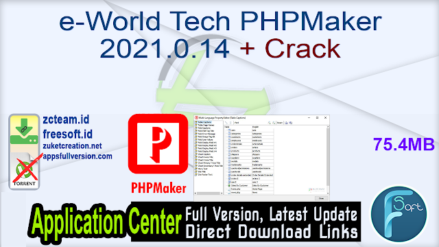 e-World Tech PHPMaker 2021.0.14 + Crack_ ZcTeam.id