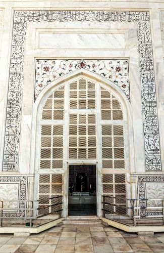 Main entrance to the mausoleum