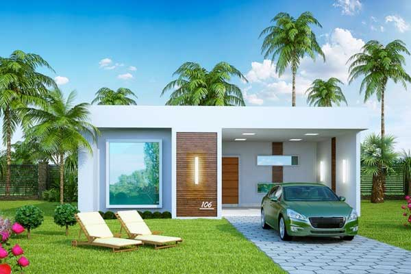 Fachadas de casas modernas peque as una planta - Casas modernas de una planta ...