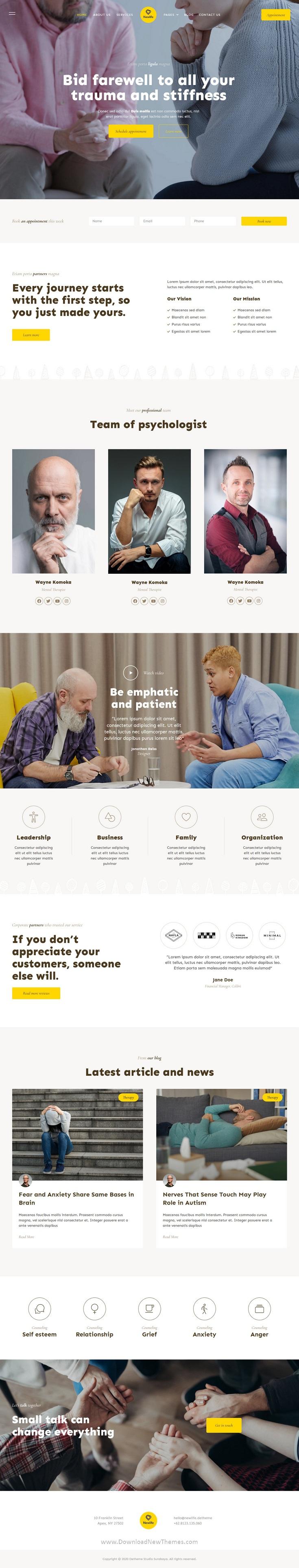 Psychology & Counseling Elementor Template Kit