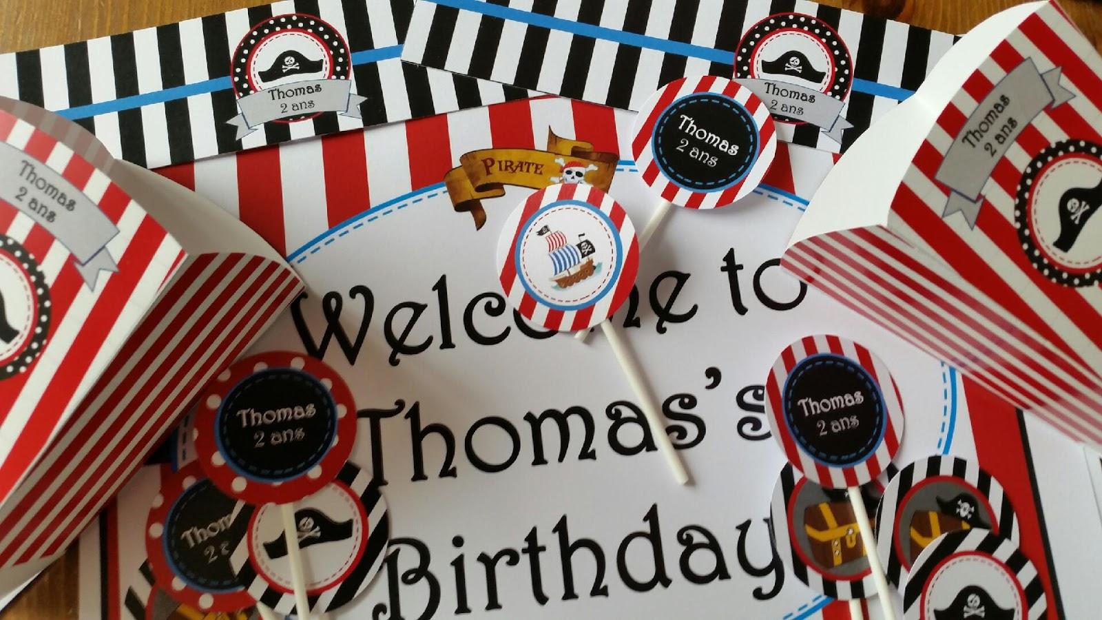 décoration papier pour anniversaire