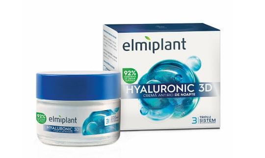 Elmiplant Crema antirid de noapte cu Acid Hyaluronic, 50 ml
