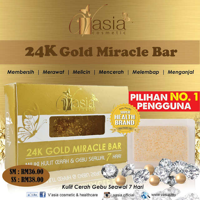 24K Miracle Gold Bar V'asia