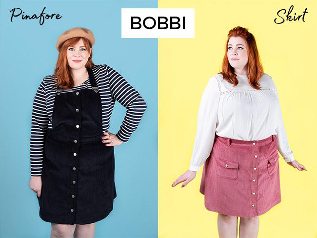 Bobbi pinafore and skirt sewing pattern