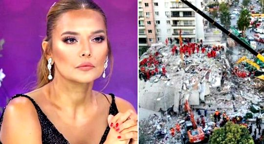 Demet Akalın extended a helping hand to earthquake victims in Izmir