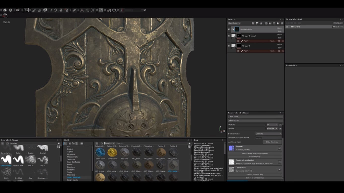 Using Height Alphas With Smart Materials in Substance Painter | CG