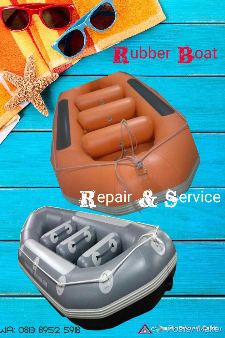 jasa repair and service rubber boat