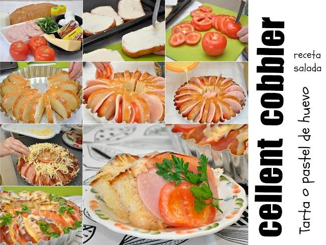 Tarta o pastel de huevo receta salada Cellent Cobbler