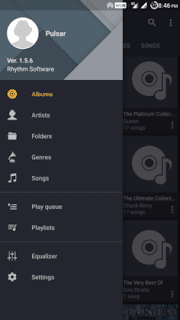 تطبيق Pulsar Music Player