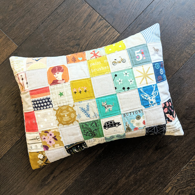 Road Trip Pillow from Patchwork USA by Heidi Staples of Fabric Mutt for Lucky Spool Media