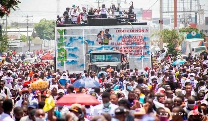 Marcha contra matrimonio gay en Haití