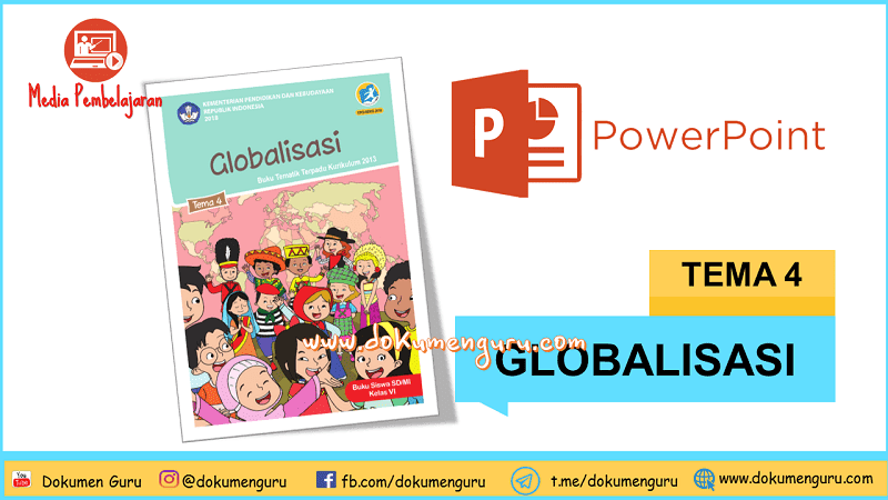 [Download] Media Pembelajaran PowerPoint Kelas 6 SD Tema 4 Globalisasi