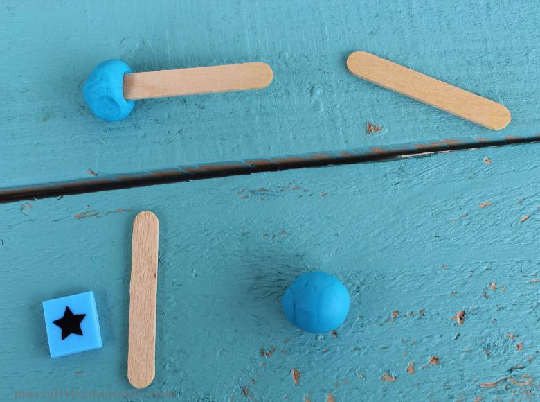 2D playdough shape activity for kids