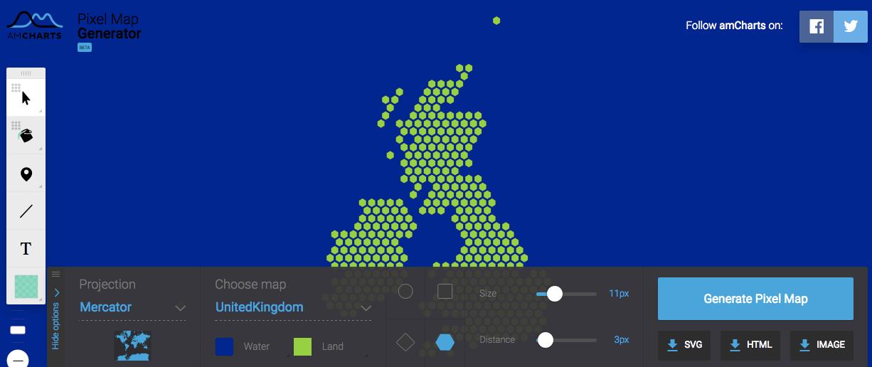 LivingGeography: Pixelmap