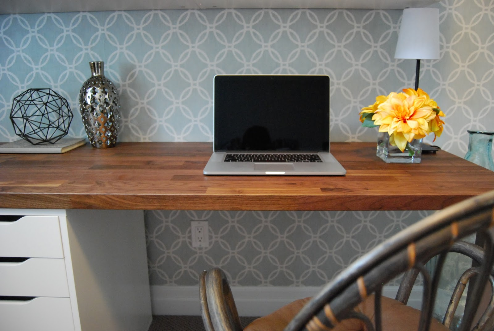 home office wallpaper. double desk wall paper behind workspace cabinets home office wallpaper p